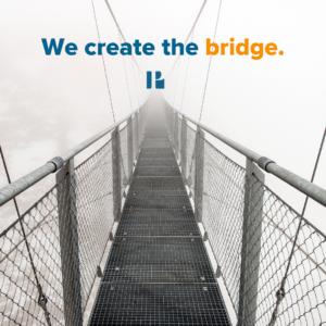 We create the bridge